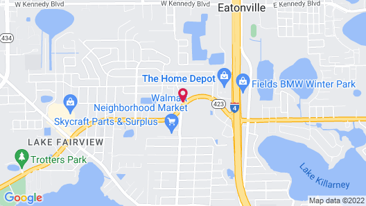 Motel 6 Orlando, FL - Winter Park Map
