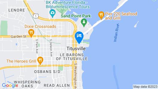 Titusville Launch Bungalow Map