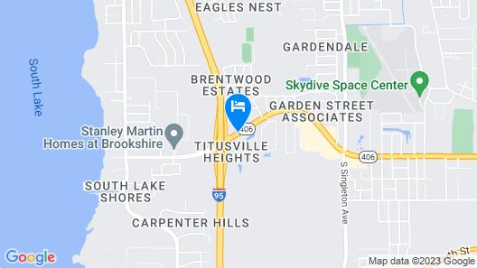 Executive Garden Titusville Hotel Map