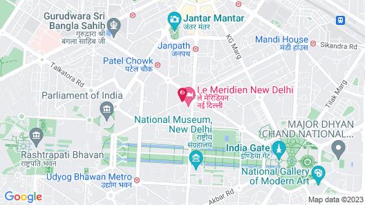 Le Meridien New Delhi Map