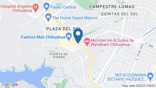 Fiesta Inn Chihuahua Fashion Mall Map