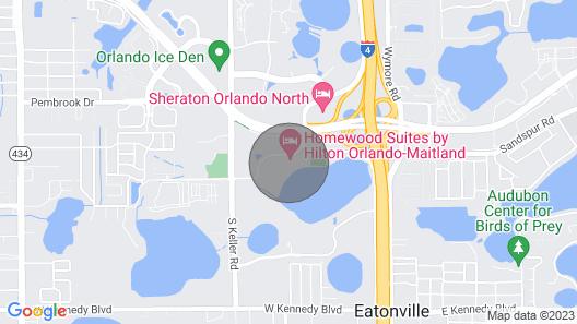 Hotel in Orlando Maitland Map