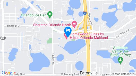 Homewood Suites by Hilton Orlando-Maitland Map