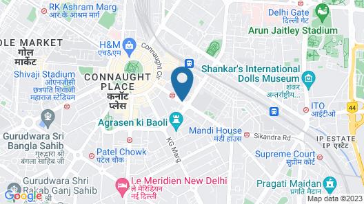 The Hans Hotel New Delhi Map