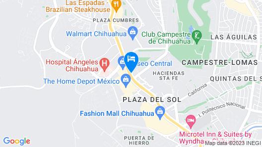 Hampton Inn Chihuahua City Map