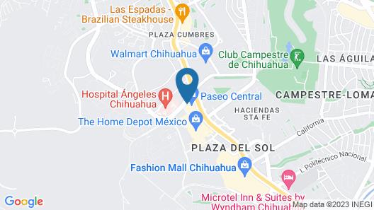 Hilton Garden Inn Chihuahua Map