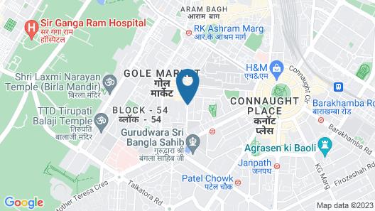 The Metropolitan Hotel and Spa New Delhi Map