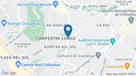 Fiesta Inn Chihuahua Map