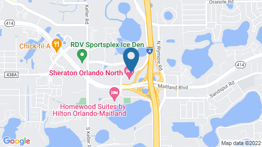 Sheraton Orlando North Hotel Map