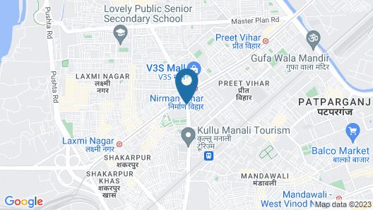 Beacon Hotel Nirman Vihar New Delhi Map