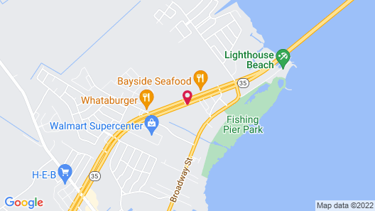 Americas Best Value Inn Port Lavaca Map
