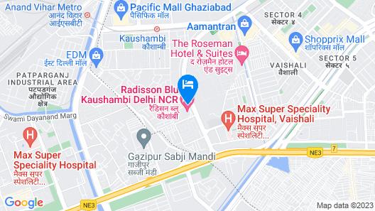 Radisson Blu Kaushambi Delhi NCR Map