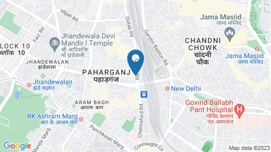 Bloomrooms @ New Delhi Railway Station Map