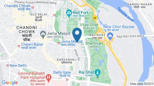 Hotel Tara Palace Daryaganj Map