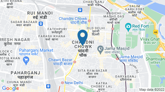 Hotel Rove Map