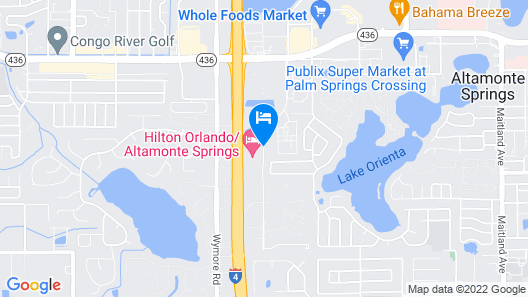 Hilton Orlando/Altamonte Springs Map