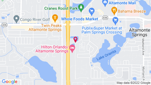Extended Stay America Suites Orlando Altamonte Springs Map