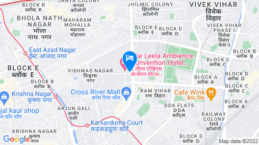 The Leela Delhi Ambience Convention Hotel Map
