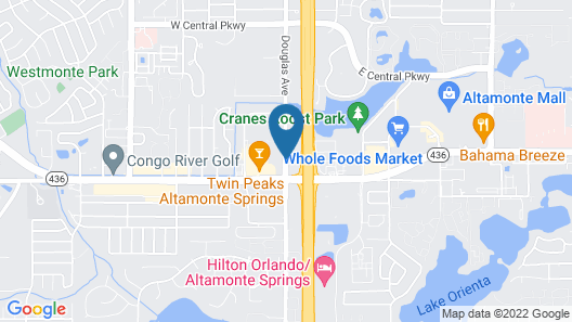 TownePlace Suites Orlando Altamonte Springs/Maitland Map