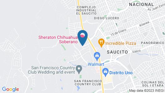 Sheraton Chihuahua Soberano Map