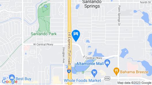 MainStay Suites Orlando Altamonte Springs Map