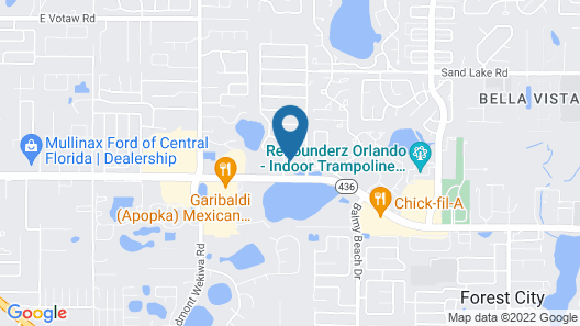 Hampton Inn & Suites Orlando-Apopka Map