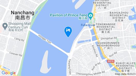 Crowne Plaza Nanchang Riverside Map