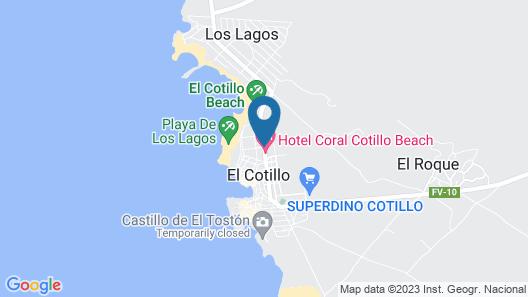 Coral Cotillo Beach Map