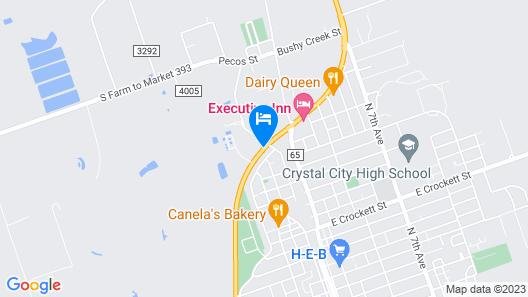 Riata Inn Crystal City Map