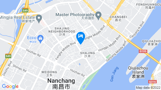 Holiday Inn Nanchang Riverside Map