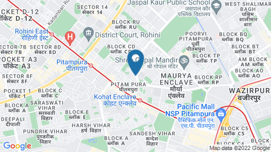 OYO Townhouse 286 Vaishali Dakshini Pitampura Map
