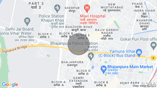 Home for Long Term Stay in Delhi Map