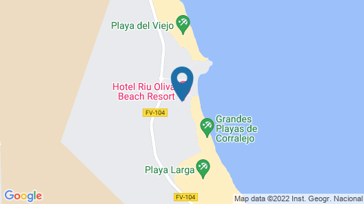 Hotel Riu Oliva Beach Resort - All Inclusive Map