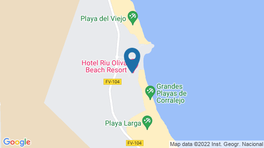 Hotel Riu Oliva Beach Resort Map
