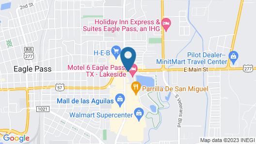 Motel 6 Eagle Pass, TX - Lakeside Map