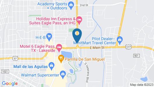 Econo Lodge Inn & Suites Eagle Pass Map