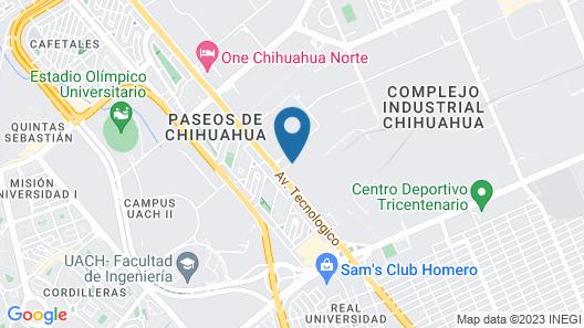 Hotel Tecnológico Norte Map