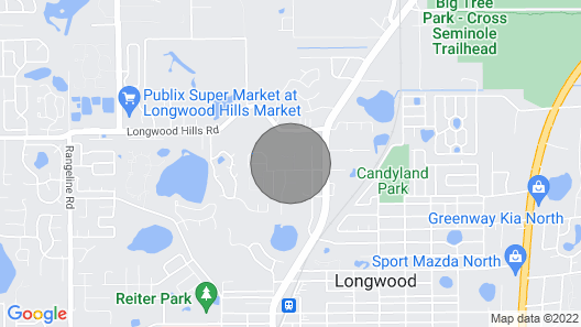 Entire House For Rent - North Of Orlando In Longwood, Florida Map