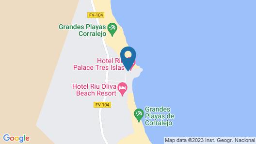 Hotel Riu Palace Tres Islas Map