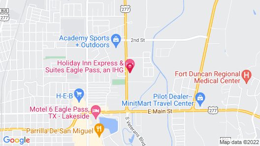 Holiday Inn Express & Suites Eagle Pass, an IHG Hotel Map
