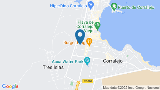 H10 Ocean Dreams Boutique Hotel - Adults Only Map
