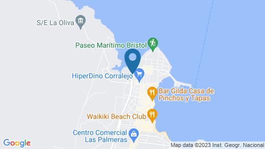Bristol Sunset Beach - Holiday Apartments Map
