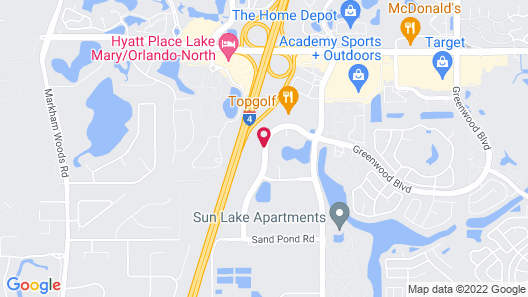 Extended Stay America -Orlando-Lake Mary-1040 Greenwood Blvd Map