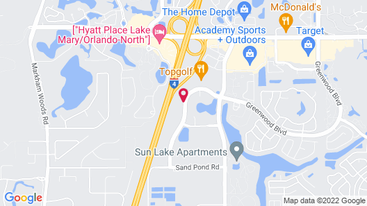 Extended Stay America Suites Orlando Lk Mary 1040Greenwood B Map