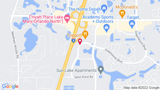 Extended Stay America-Orlando-Lake Mary-1036 Greenwood Blvd Map