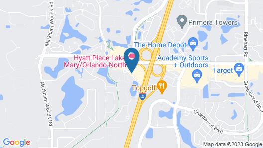 Hyatt Place Lake Mary/Orlando North Map