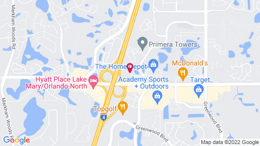 Homewood Suites by Hilton Lake Mary Map