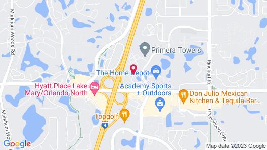 Hilton Garden Inn Lake Mary Map