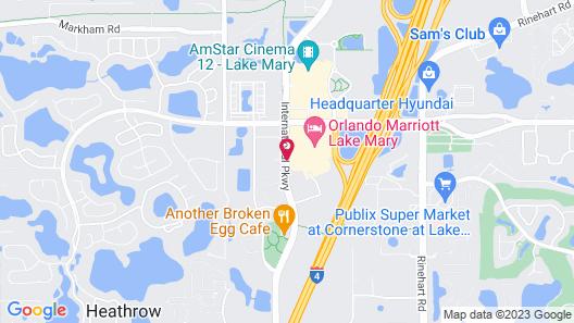 Orlando Marriott Lake Mary Map