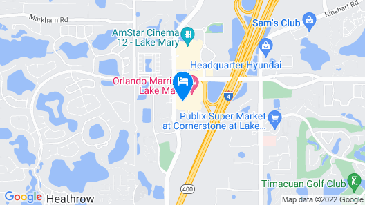 Residence Inn by Marriott Orlando Lake Mary Map